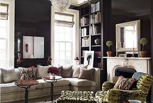 Color! / Using color to brighten up your neutrals gives the room life and added interest.