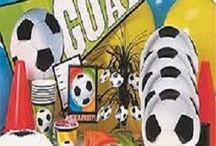 Fodbold festtema / Alt til din fodboldfest og fødselsdag med fodbold tema.