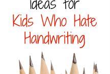 school: hand writing