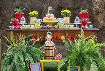 Festas no Jardim / Ideias de aniversários no jardim, no campo, no estilo faça você mesmo.