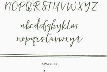 Lettering Styles | Fonts / Favourite fonts collected for inspiration for hand lettering and calligraphy