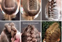 DIY hairstyle girl