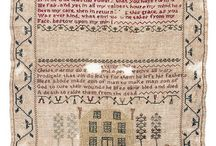 Samplers & other needlework / In celebration of our latest exhibit, Lowcountry Embroidery, we will post lovely examples from museum collections around the globe. More exhibit info - http://www.charlestonmuseum.org/exhibits-lowcountry-embroidery