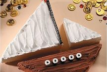 Sailing boat cakes