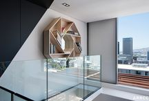 Apartment De Waterkant, Cape Town / There is a strong but subtle emphasis on rhythm through the use of geometric forms and graphic elements. The design optimises the small space doubling up functionality wherever possible.