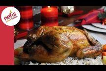 fırında bütün tavuk.