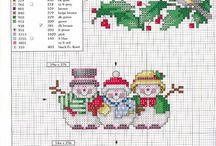 Grilles point de croix Noël / Grilles point de croix gratuites Noël