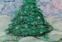 Alcohol Ink Art & Water colour / Intuitive art form / by Phyllis Sabean