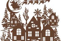 Kerstmis scènes