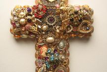 Craft, Beads and old jewellery / Crosses, frames and other ideas.