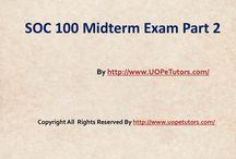SOC 100 Midterm Exam Part 2 UopeTutors