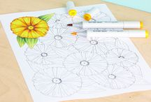 COPICS: IMAGES / Coloring Pages and Color Combination Charts!