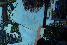 MARION DAVOUT / Marion Davout, jeune peintre française qui figure le réel suggéré par la mémoire dans un langage expressionniste jouant avec les limites de l'abstraction. ©Marion Davout. Courtesy : galerie Laure Roynette