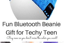 Gift Ideas that Your Techy Teen Will Love / teen gift ideas, tech loving teen gift ideas, cellphone accessory, tablet accessory gifts, gift ideas for teens, touch screen gloves, technology bedside caddy, personalized docking station, phone wallet, waterproof speakers, bluetooth beanie hat, wireless bluetooth speakers, in-car speaker, tablet stylus, tech toys for teens