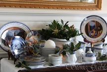 Christmas dinnerware / by Jackie🎨 Strang