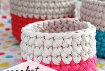crochet basket/organizer