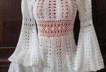 háčkovaná dámska móda