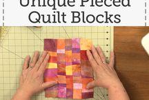 create unique pieced quilt blocks