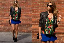 Leather Jackets & Florals