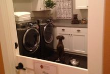 Laundry rooms.
