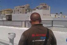 Instalación antena TV para TDT en Cádiz / Desmontaje de la antigua antena de TV e instalación de antena televisión para TDT nueva.