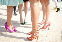 Glass slippers  / Shoes shoes and more amazing shoes!  / by Donna Hale
