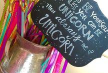 unicorn and rainbow party ideas
