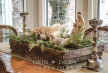 Tabletop Arrangements!! / Boxes & baskets for seasonal arrangements!