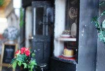 Parisian cafe Coffee with Telimena / The story of the House: http://minizadollhouseminiatures.com/houses/parisian-cafe