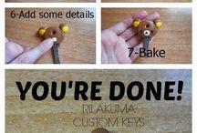 gantungan kunci clay