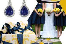 navy blue yellow