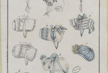Regency. Fashion plates de ropa interior y complementos / by Elizabeth Montgomery