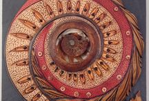 Vicki Grant's Art / Circles, spirals, nature based design and a wonderful organic feel. This is inspired creating.