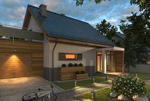Nocne Wizualizacje  / Nocne wizualizacje domów energooszczędnych