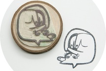 hand carved rubber stamps animals
