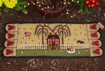 Primitive house - salt box house - house - casas / Casinhas em geral, para pintar ou bordar / by Rosvita Hennig