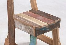 Reclaimed wooden chairs