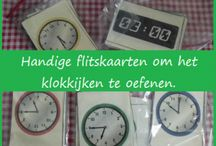School: rekenen-> klok kijken