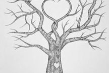 tree sketch wedding print