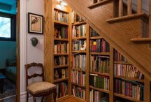 Staircases and library in a tiny