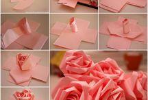 Feltro e fiori di carta / Feltro e fiori di carta e perché no!... Qualche borsa!