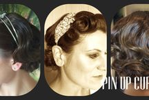 Pin Up Curl - my clients / My work with some lovely ladies and beautiful brides.