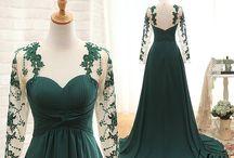 Зелёные платья / Разные зелёные платья