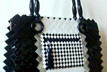 borsa nera e bianca