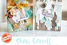 My class on Craftsy! / Lovely Layers From Top to Bottom! Cards using mediums, texture paste, fabric, paints and inks. Something for everyone! www.craftsy.com/ext/ShariCarroll_5254_F / by Shari Carroll
