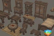 Medieval furniture references