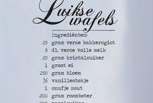 Recepten / Mooi vormgegeven ingredientenlijsten van stickerqueen.nl