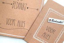 Handlettering kaarten