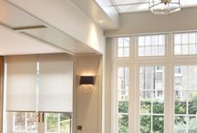 Concealed Blinds / Windows and skylights with blinds concealed inside ceilings and walls.