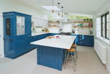 BLUE SHAKER KITCHEN / From their Handmade in Hitchin range this bespoke kitchen has been designed and built by Planet Furniture